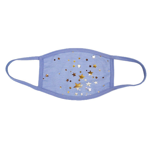 Blue Star Face Mask