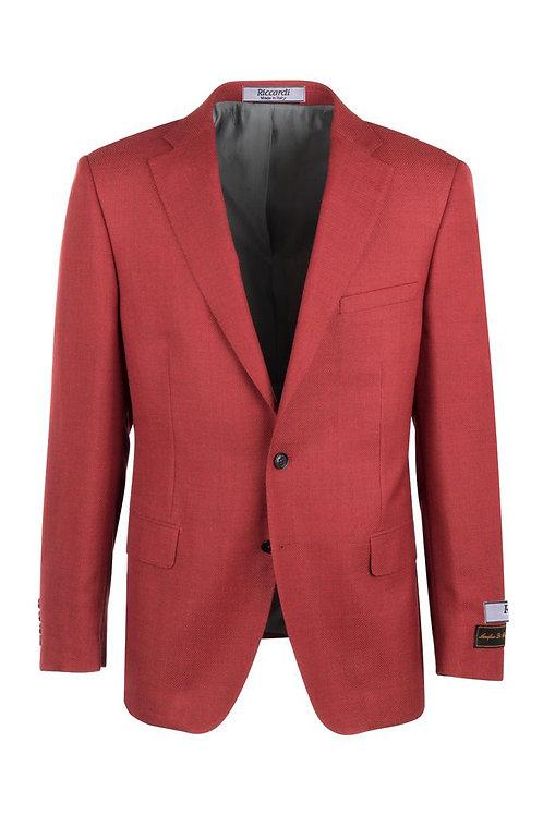 Sangria Red Modern Fit, Pure Wool Jacket TL10712/395