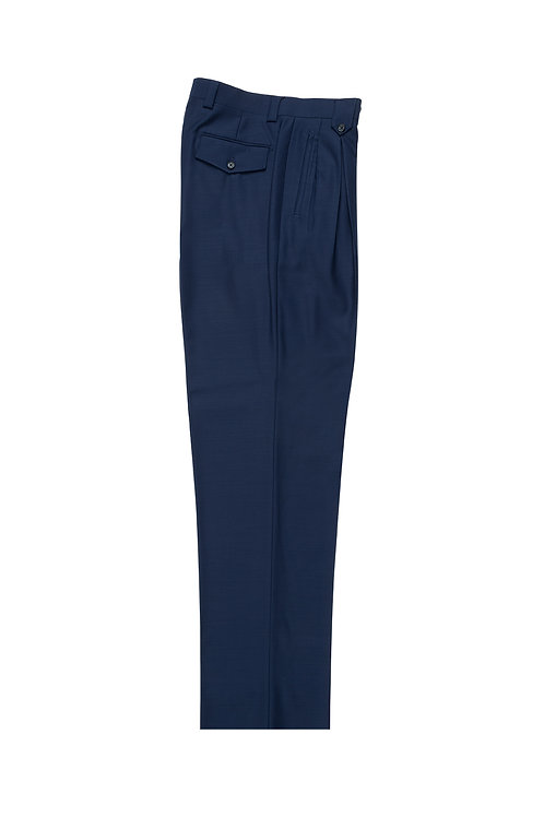 French Blue Wide Leg, Pure Wool Dress Pants by Riccardi Clothie F.BLUE