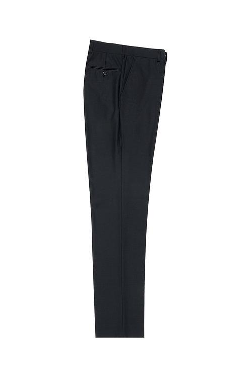 Black Slim Fit, Pure Wool Dress Pants by Riccardi Clothier RIC1001