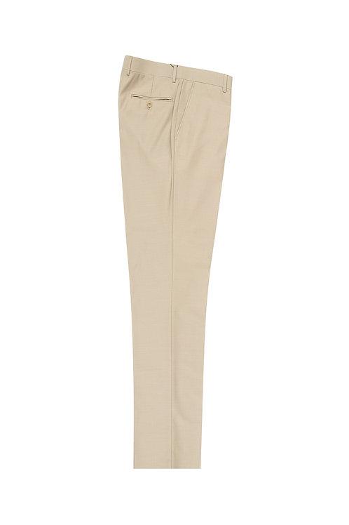 Tan Flat Front, Pure Wool Dress Pants by Riccardi Clothier RIC1004