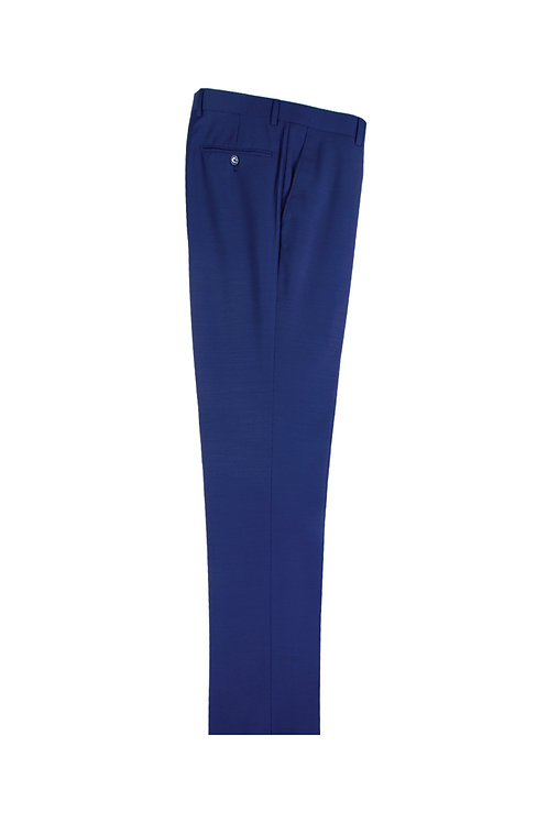 French Blue Slim Fit, Pure Wool Dress Pants by Riccardi Clothier RICF.BLUE