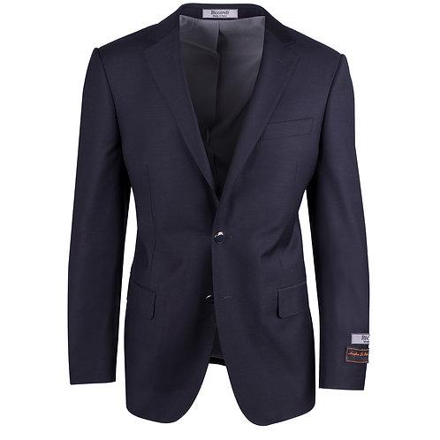 Novello Black Modern Fit Pure Wool Blazer by RICCARDI CLOTHIER RIC1002