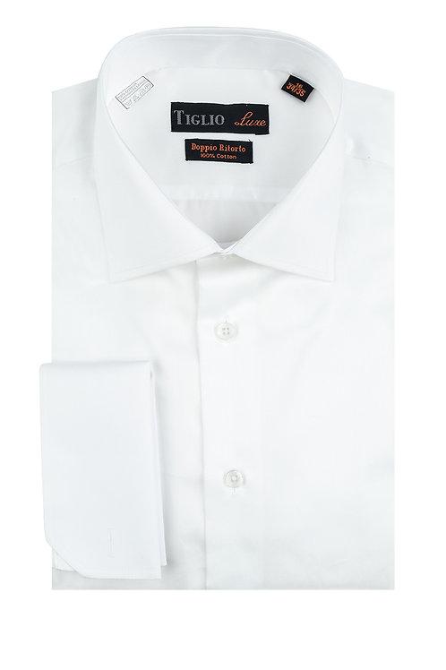 White Dress Shirt, French Cuff, by Riccardi Clothier TIG3012
