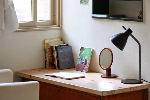 Desk in big room