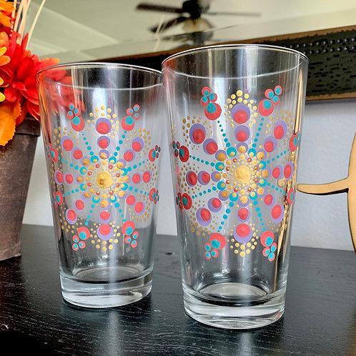 Colorful Mandala Glasses (Set of 2)