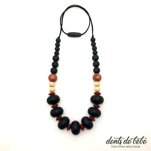 Harriet Teething Necklace (Black)