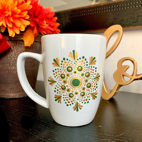 Green & Gold Mandala Coffee Mug
