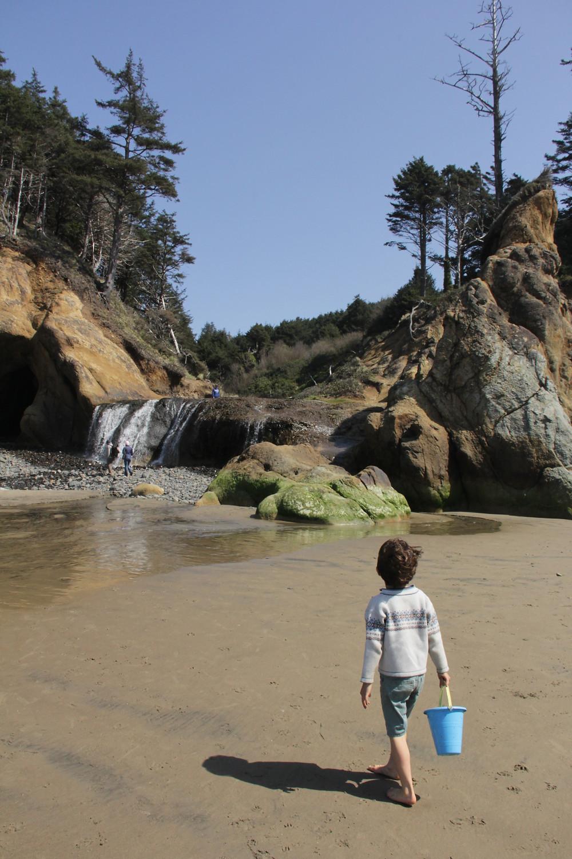 Hug Point State Park, PNW Kids