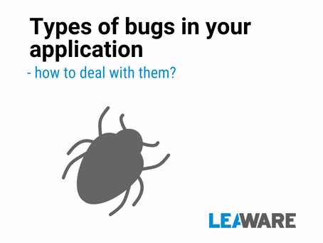 Types of bugs in your application. How to deal with them?