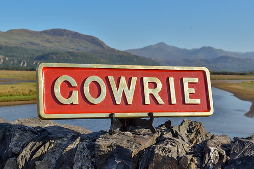 Gowrie - Brass Nameplate Painted
