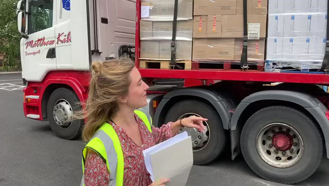Look what's arrived for Shropshire's food aid organisations!