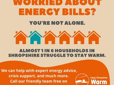 Free help to keep your home warm in Shropshire