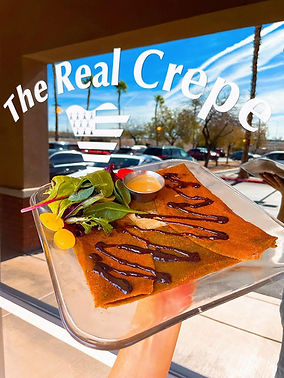 the entrance of the French Crepe, French restaurant based in Las Vegas