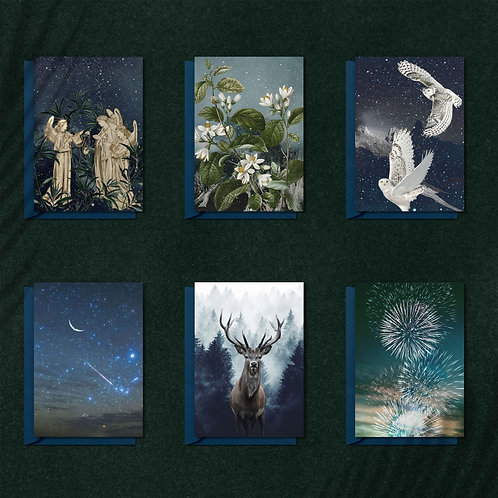 LIGHT - Set of 6 A5 greeting cards