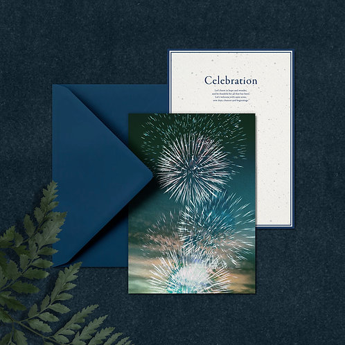CELEBRATION - A5 card with envelop