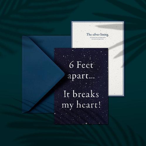 6 FEET APART - A5 card with envelop