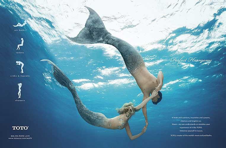 QV TOTO Mermaid Couple