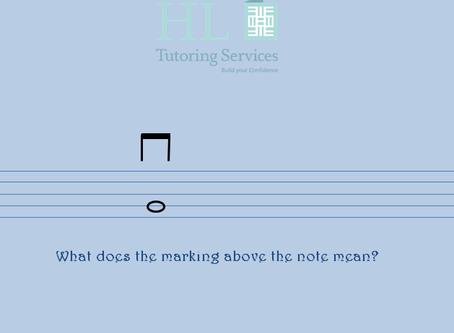 Simple violin marking