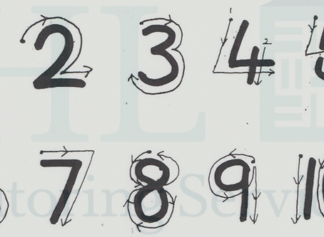 Early letter and number formation