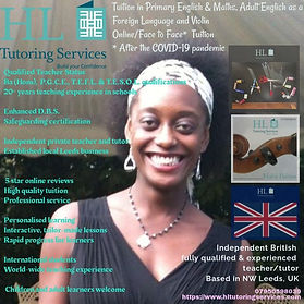 HL Tutoring Services Leeds Online - High Quality Tuition in Primary Education, adult English as a Foreign Language and Violin