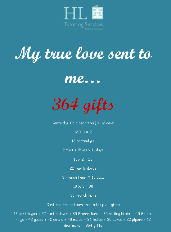 My true love sent me 364 gifts
