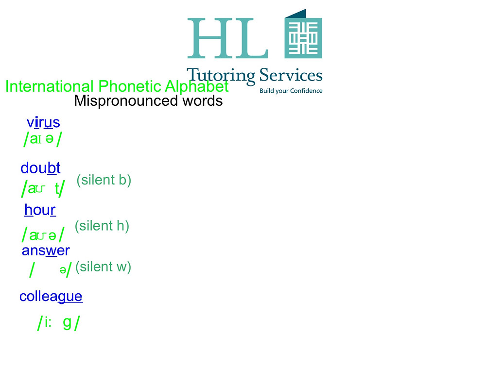 Correct Mispronounced Words with HL Tutoring Services