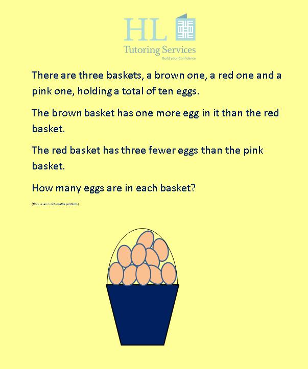 Egg problem solving with HL Tutoring Services.
