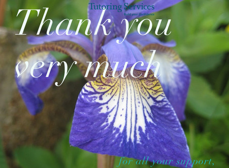 Thank you for all your support from HL Tutoring Services