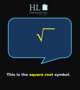 The square root symbol