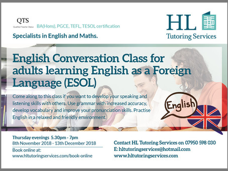 Sign up for our English Conversation Class