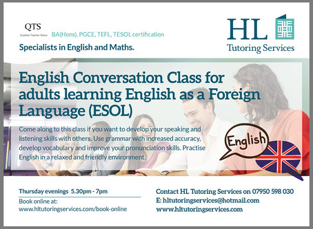 Sign up for the Online English Conversation Class For Adults - Autumn 1 2020