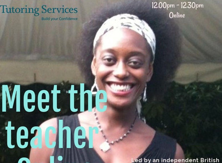 Meet the teacher Online 2020 - For adult English as a Foreign Language learners