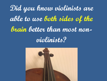 Boost your brain power by playing the violin