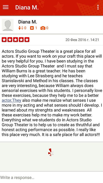 Acting class Los Angeles