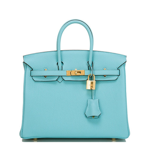 Hermes Birkin 25 Blue Atoll Togo GHW
