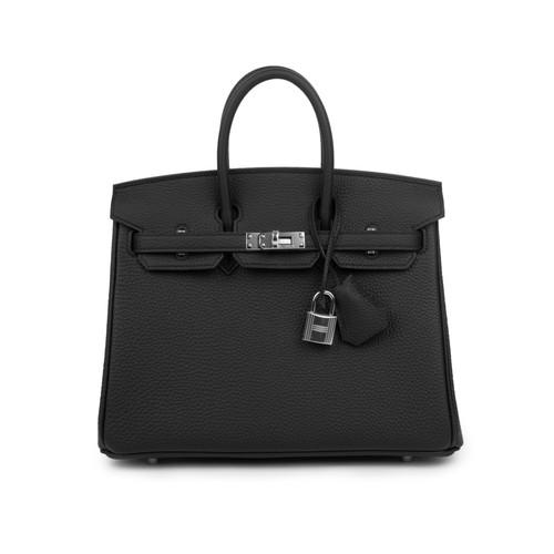 350b71fa93b Hermes Birkin 25 Black Togo Palladium Hardware