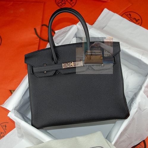 Hermes Birkin 30 Black Togo Palladium Hardware