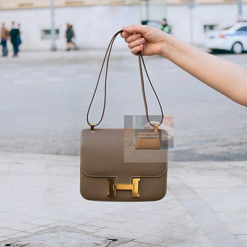 Hermes Constance 24 Etoupe Epsom Gold Hardware