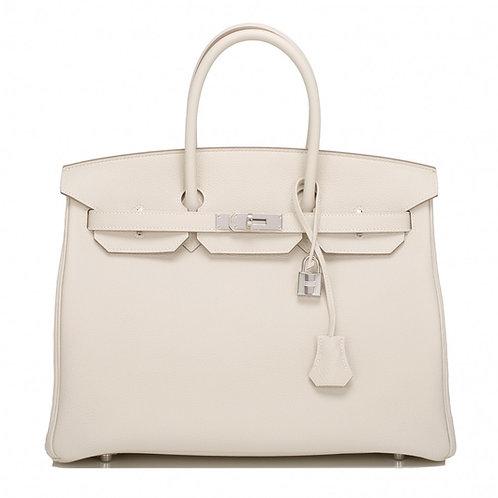 Hermes Birkin 35 Blanc Clemence PHW