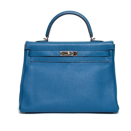 Hermes Kelly 35 Blue De Galice Togo PHW