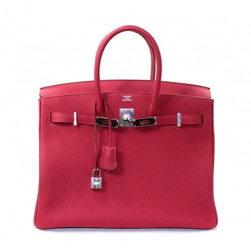 Hermes Birkin 35 Rouge Grenat Togo PHW