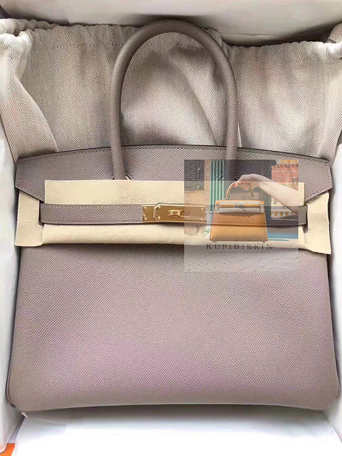 Hermes Birkin 30 Gris Asphalte Epsom Gold Hardware