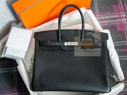 Hermes Birkin 35 Black Epsom Palladium Hardware