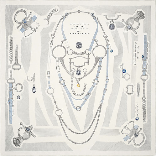 Шарф Эрмес 90 cm Etude Pour Une de Gala White