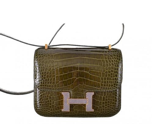 low price hermes constance bag alligator 18cm vert veronese gold lizard  agate ffafc 3024b 83546ceb0fceb