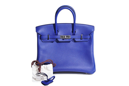 Hermes Birkin 25 Swift Blue Saphire PHW
