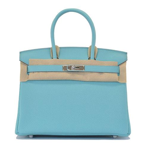 Hermes Birkin 30 Blue Atoll Togo PHW