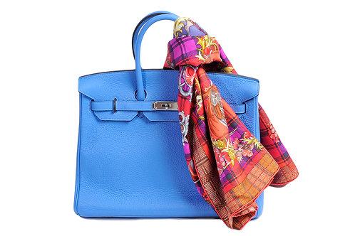 Hermes Birkin 35 Blue Paradise Clemence PHW