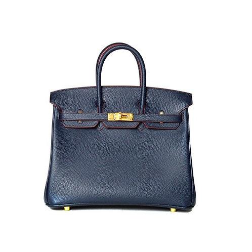 Hermes Birkin 25 Epsom Blue Indigo GHW
